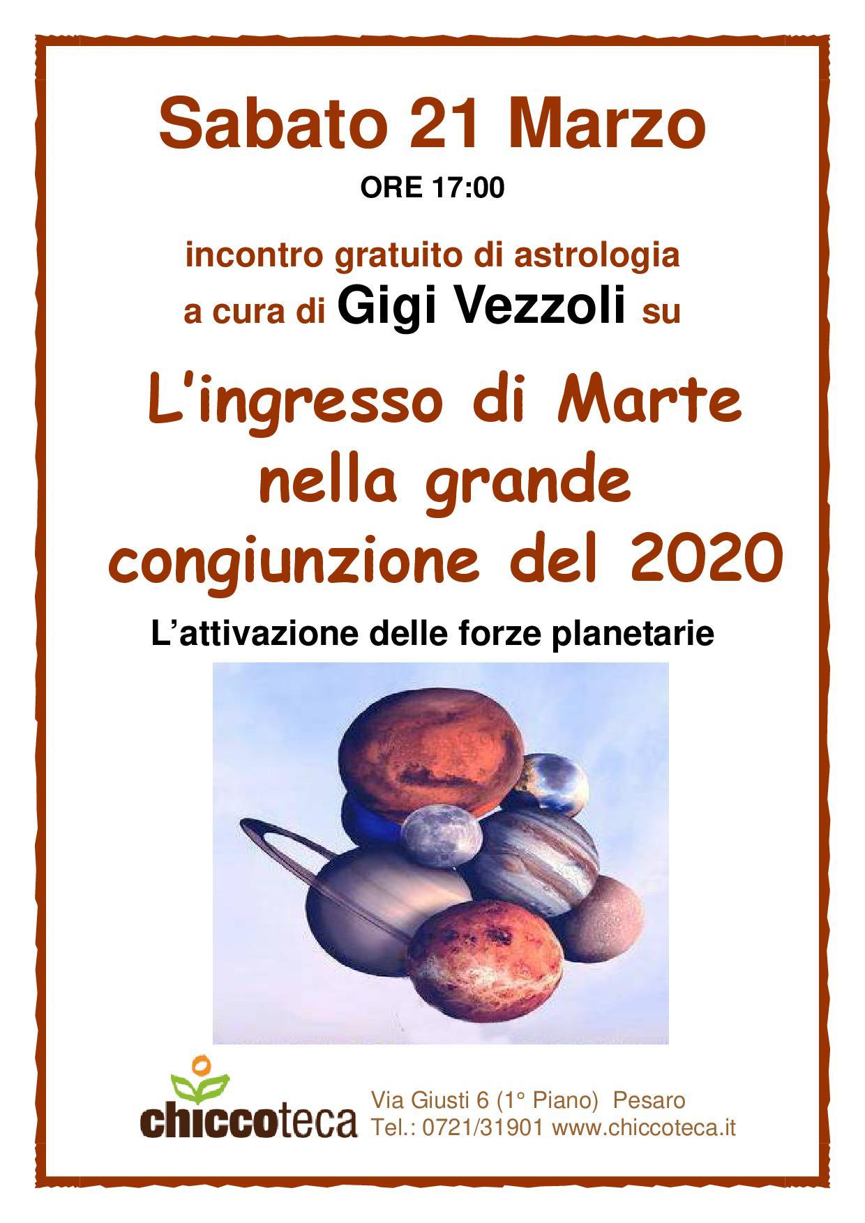 incontro gratuito di astrologia a cura di Gigi Vezzoli